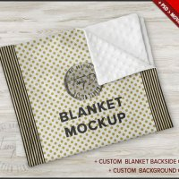 Minky Blanket PSD Mockup Folded Blanket on by TanyDiArtDesign