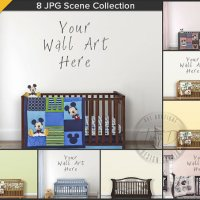 Nursery Styled Interior Wood Crib Scene 8 by TanyDiArtDesign