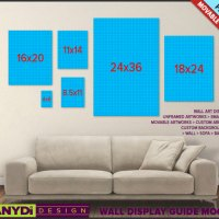 Wall Display Guide PSD Mockup Living room Sofa by TanyDiArtDesign