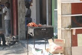 Mishkaki - spiced skewered meat (goat or beef)