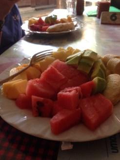 Fresh Pineapple, Papaya, Water Melon, Banana and Avocado