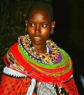 Jeune fille Ethnie Masaï