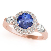 Tanzanite Rose gold Engagement Rings