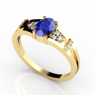 14k yellow gold tanzanite ring