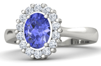 Tanzanite wedding Ring