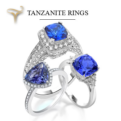 Tanzanite Wedding Rings