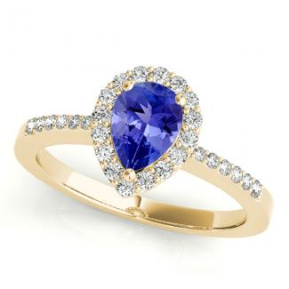 Pear Cut Tanzanite Wedding Ring