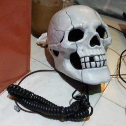 Model of this telephone is showing hazardous of technology