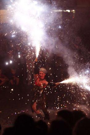 Pyro-Funkeneffekt für Feuershows