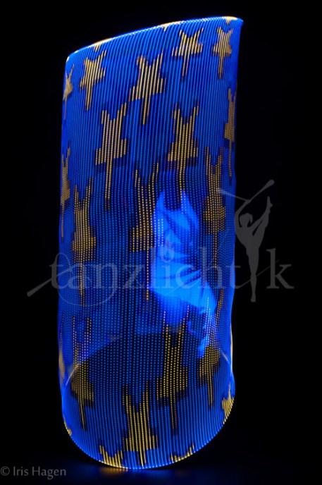MATRIX LED Hula Hoop mit Sternenhimmel-Grafik für Lichtshows