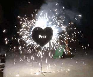Pyroherz für Feuershows * Für Geburtstag oder Hochzeit