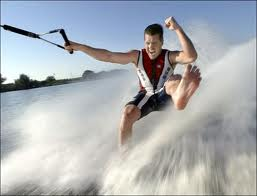Barefoot skiing. Free your feet.