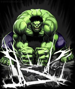 When gluteus maximus isn't functioning well, it get's very angry like the Hulk. This can lead to plantar fasciitis pain.