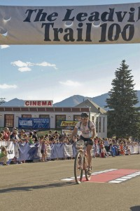 Leadville Trail 100 finish line