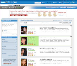 Yahoo personals homepage
