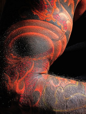muscle with ink