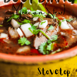 Pinterest graphic for beef birria (Mexican stew).