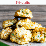 Pinterest graphic Jalapeno Cheddar Drop Biscuits