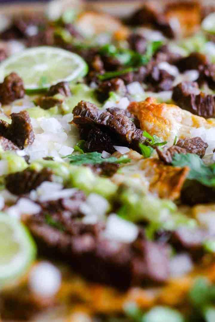Close-up of nachos.