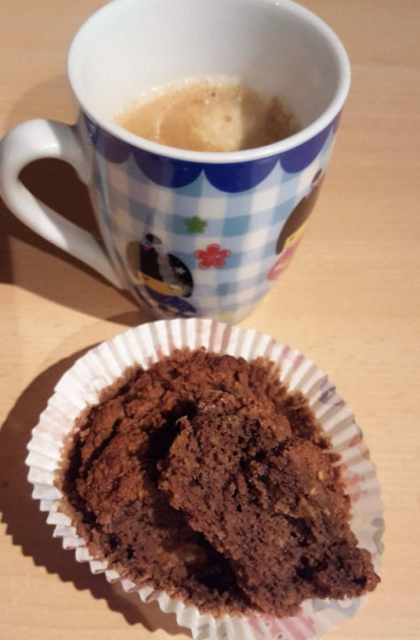 Low Carb Chocolate Avocado Muffins with Coffee