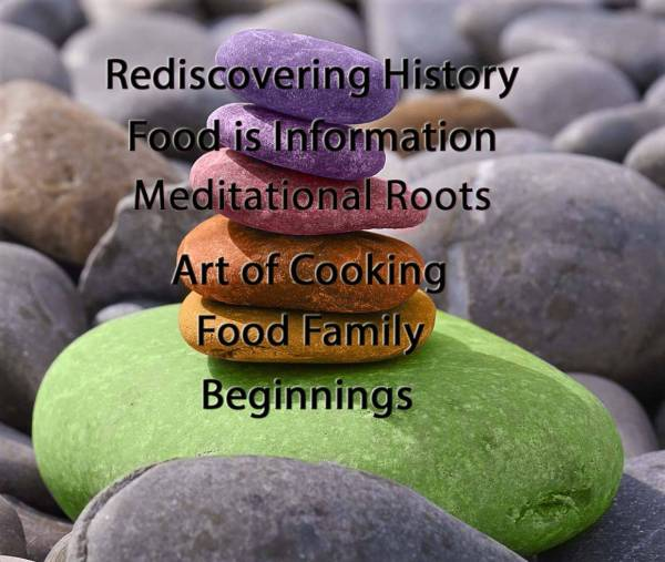 The Art of Meditational Cooking - Beginnings The Art of Meditational Cooking - Food Family The Art of Meditational Cooking - Art of Cooking The Art of Meditational Cooking - Meditational Roots The Art of Meditational Cooking - Food is Information The Art of Meditational Cooking - Rediscovering History