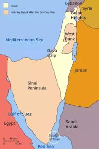 Israel-Palestine map 1967