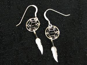 Dreamcatcher Earrings - Black Bead