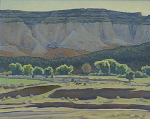"Edith Hamlin, Bright Morning in Long Valley, Oil on Canvas Board, c. 1947, 16"" x 20"""