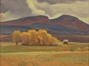 "Edith Hamlin, Lonesome Valley, Utah, Oil on Board, 12"" x 16"""