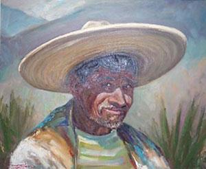 "Ben Turner, Oil on Canvas, 19"" x 23"""