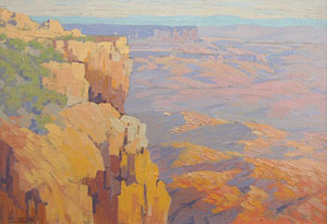 "Carl Sammons, Grand Canyon, Oil on Canvas, Circa 1930, 14"" x 20"""