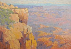 "Carl Sammons, Grand Canyon, Oil on Canvas, Circa 1930, 14"" x 20"""