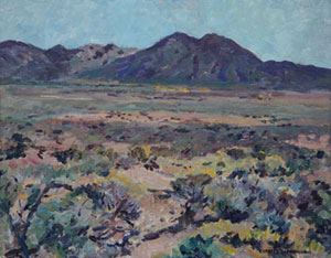"Charles Berninghaus, Sage Near Taos, Oil on Canvas Board, 16"" x 20"""