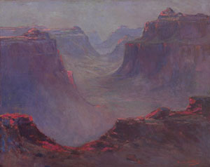 "Dawson Dawson-Watson, Grand Canyon, Oil on Canvas, 24"" x 30"""