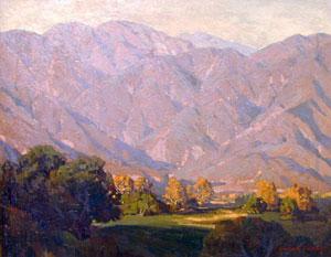 "Edgar Payne, Morning Light, San Gabriel, Oil on Canvas, 33"" x 41"""