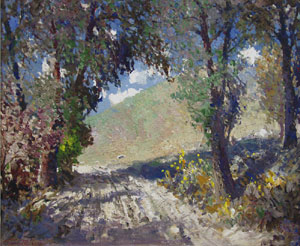 "Fremont Ellis, Summer Day, Oil on Canvas, 30"" x 25"""