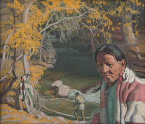 "Ernest Martin Hennings, At the Rio Hondo, Oil on Canvas Board, 12"" x 14"""