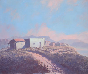 "Jack van Ryder, Arizona, Oil on canvas, Circa 1930, 24"" x 28"""