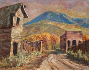 """Lawrence Hosmer, Silent Street, Oil on Canvas, 22"""" x 28"""""""