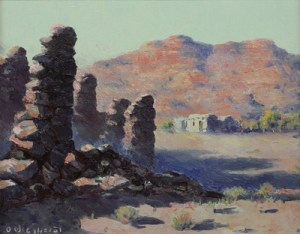 """Olaf Wieghorst, Marble Canyon Country, Oil on Canvas, 1930, 10"""" x 13"""""""