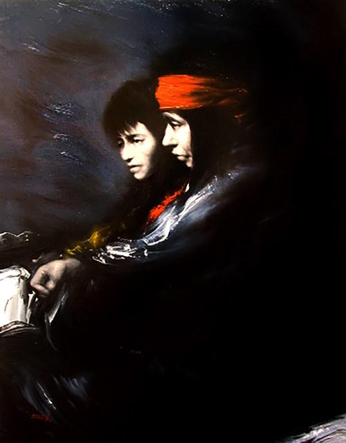 Jose Luis Canencia, Slight Sadness, 30x24, oil on canvas - Copy