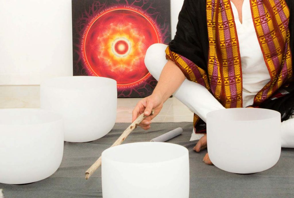 sound healing with bowls