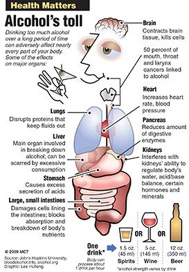 HEALTH MATTERS: Alcohol's effect on organs