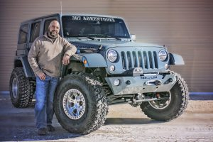 Will Morgan with his 2014 JKU Unlimited Rubicon Jeep