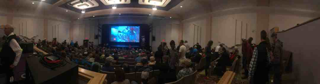The theater was packed