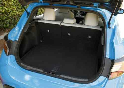 Toyota small car interior space