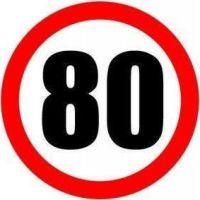 Σήμα ορίου ταχύτητας 80 φορτηγών αυτοκόλλητο