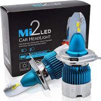 Led Mini H4 Mi2 headlight 12/24V 50w 6000LM 6500K - Διπλή Σκάλα