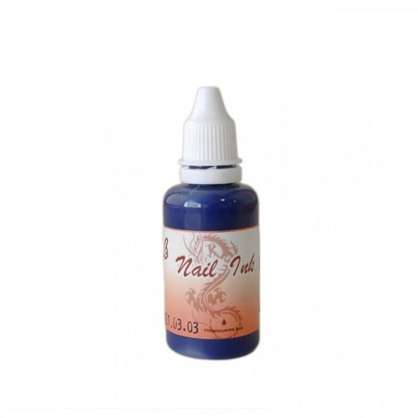 Ακρυλικό χρώμα αερογράφου Μπλε- Airbrush Nail Ink 30ml OEM