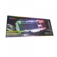Andowl ενσύρματο πληκτρολόγιο Gaming RGB - K55